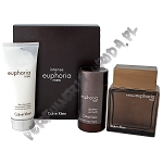 Calvin Klein Euphoria Men Intense woda toaletowa 100 ml spray + balsam po goleniu 100 ml + sztyft 75 ml