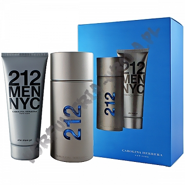 Carolina Herrera 212 men woda toaletowa 100 ml spray + balsam po goleniu 100 ml